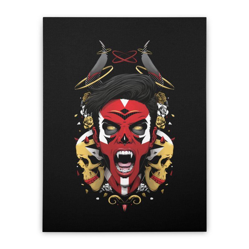 Anger & Bone Home Stretched Canvas by Red Apple Tees