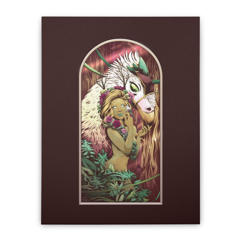 Lady of the Woods Home Stretched Canvas by Red Apple Tees