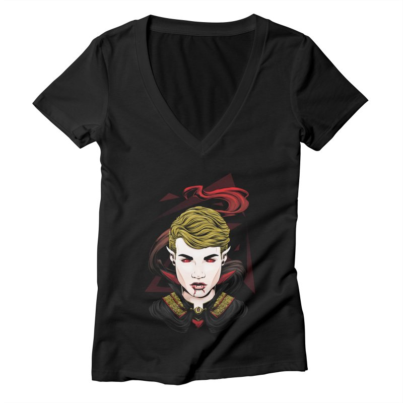 Cursed Blood Women's V-Neck by Red Apple Tees