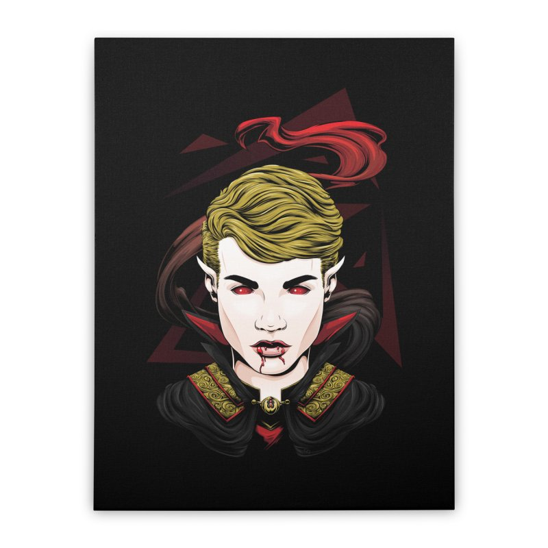 Cursed Blood Home Stretched Canvas by Red Apple Tees