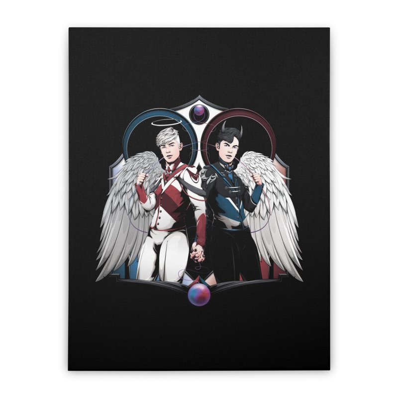 Holy and Fallen Home Stretched Canvas by Red Apple Tees