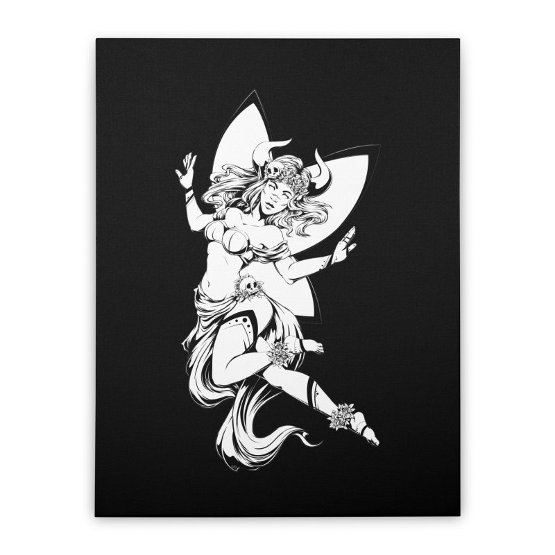 Glamorous and Terrible Home Stretched Canvas by Red Apple Tees