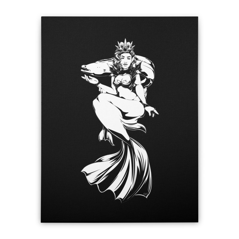 A Queen Of The Sea Home Stretched Canvas by Red Apple Tees
