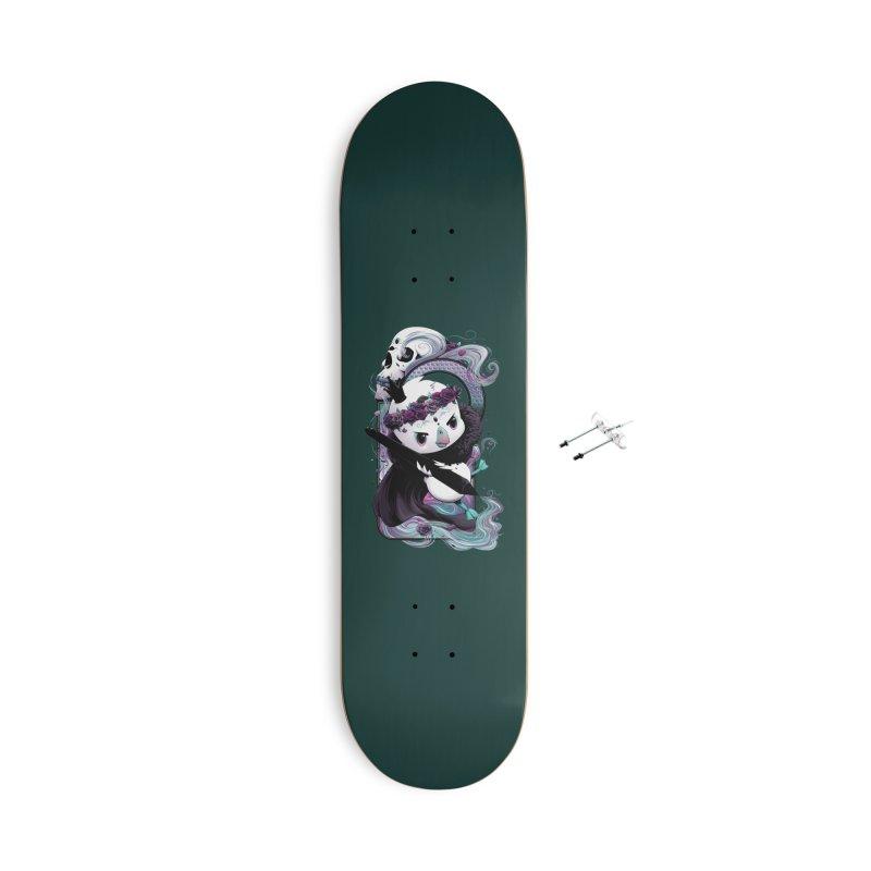 dinkygoose - Dark/Villain Accessories Skateboard by Red Apple Tees
