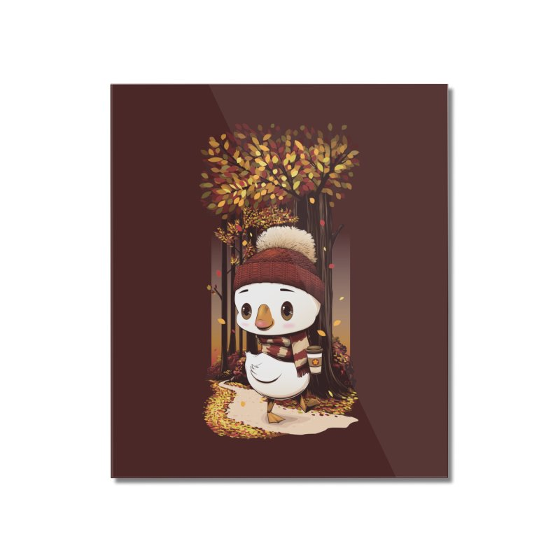 dinkygoose - Fall Home Mounted Acrylic Print by Red Apple Tees