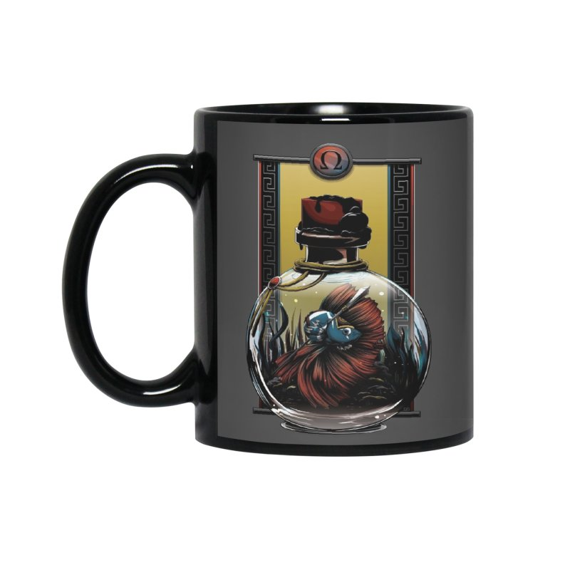 Kratos War Fish Accessories Mug by Red Apple Tee's