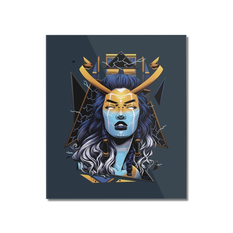 Thunder Goddess Home Mounted Acrylic Print by Red Apple Tees