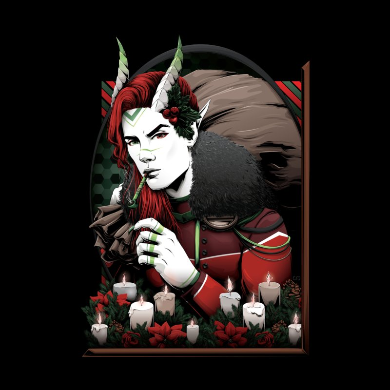 Krampus Accessories Magnet by Red Apple Tee's