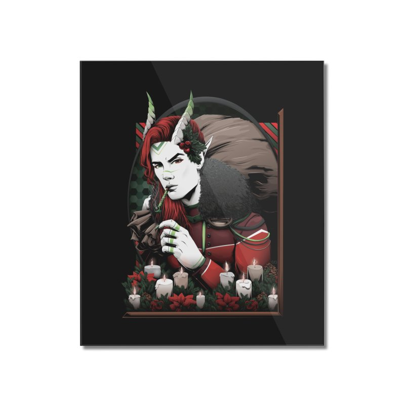Krampus Home Mounted Acrylic Print by Red Apple Tees