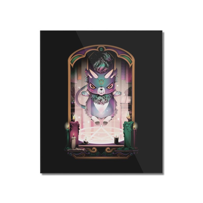 Summoning Circle - Chubby Goat Monster Home Mounted Acrylic Print by Red Apple Tees