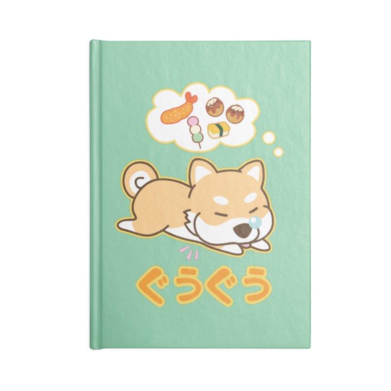 A Dog's Delectable Dreams (Shiba Inu Wan Wan) Accessories Notebook by Redbeanfiend's Artist Shop