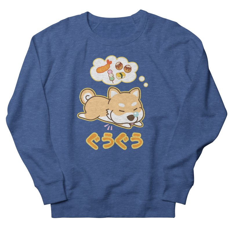 A Dog's Delectable Dreams (Shiba Inu Wan Wan) Men's Sweatshirt by Redbeanfiend's Artist Shop