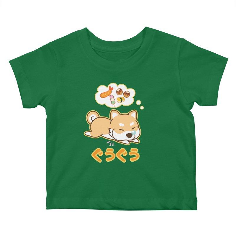 A Dog's Delectable Dreams (Shiba Inu Wan Wan) Kids Baby T-Shirt by Redbeanfiend's Artist Shop