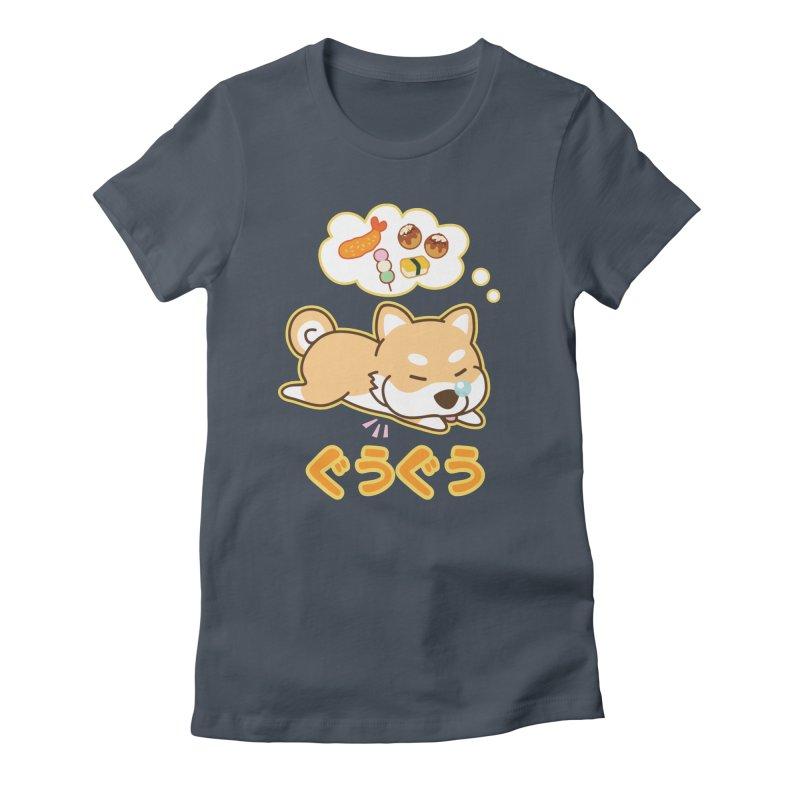 A Dog's Delectable Dreams (Shiba Inu Wan Wan) Women's T-Shirt by Redbeanfiend's Artist Shop