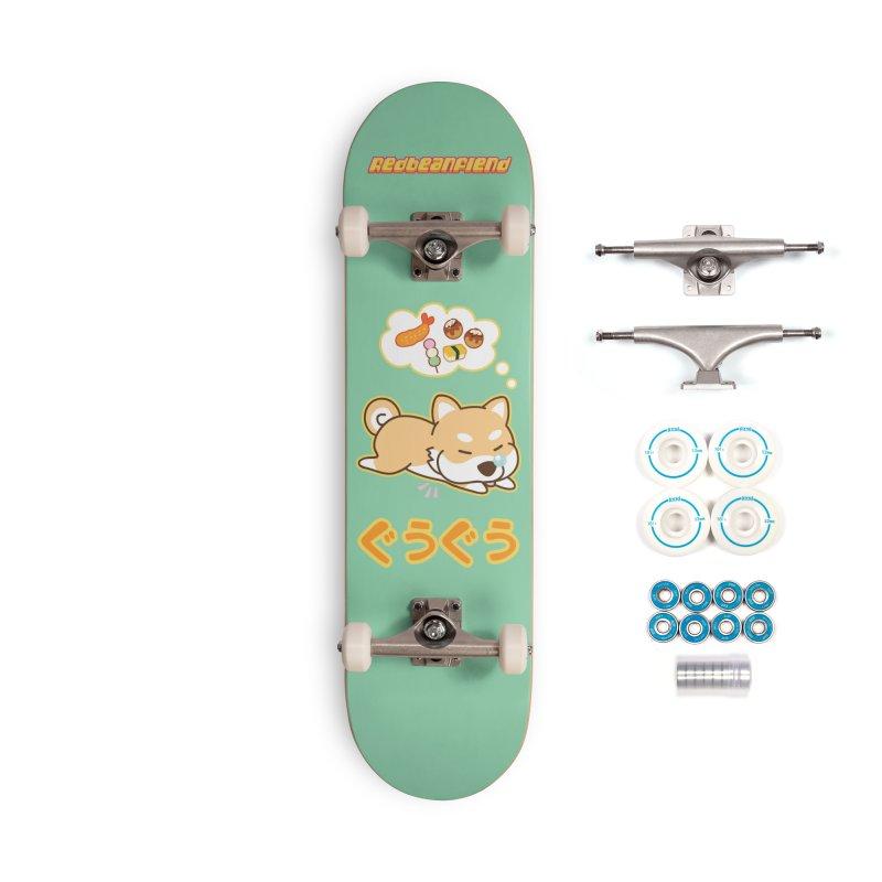 A Dog's Delectable Dreams (Shiba Inu Wan Wan) Accessories Skateboard by Redbeanfiend's Artist Shop