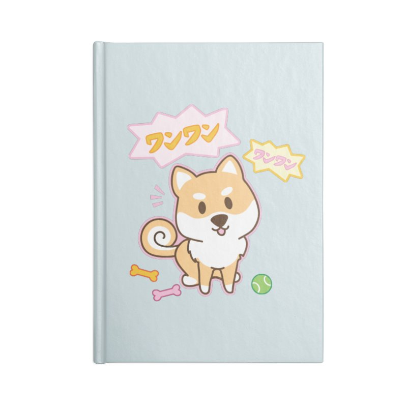 Shiba Inu Wan Wan Bark! Accessories Notebook by Redbeanfiend's Artist Shop