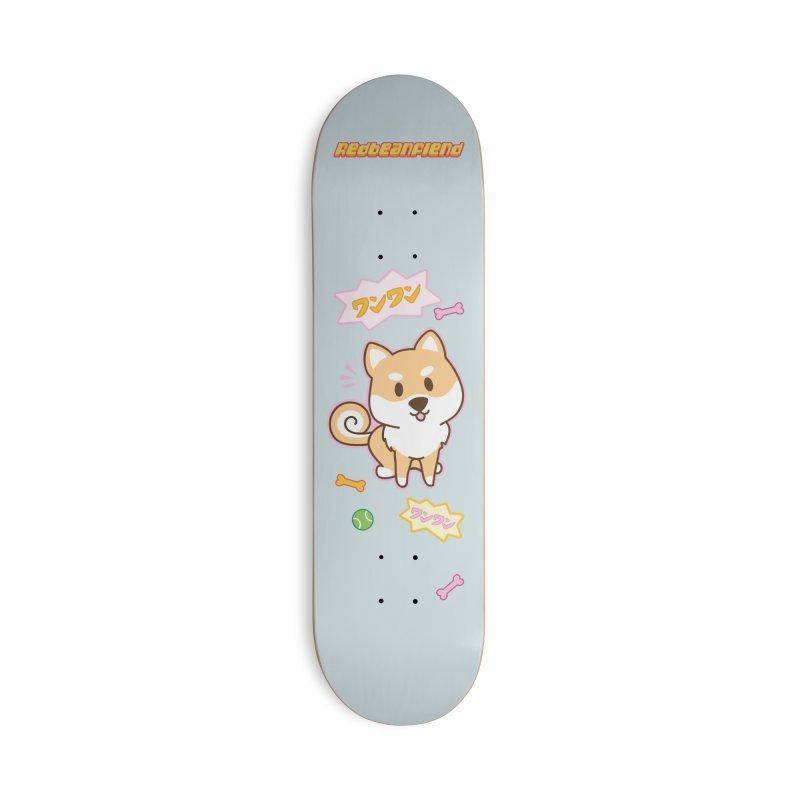 Shiba Inu Wan Wan Bark! Accessories Skateboard by Redbeanfiend's Artist Shop
