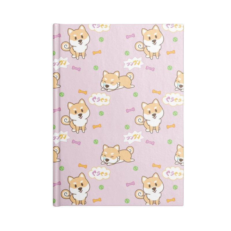 Shiba Inu Wan Wan Pattern Accessories Notebook by Redbeanfiend's Artist Shop