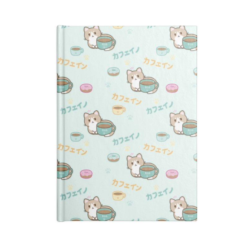 Kafein the Cat + Coffee Accessories Notebook by Redbeanfiend's Artist Shop