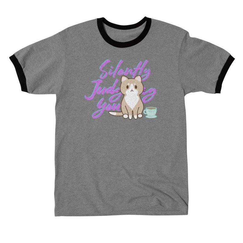 Kafein is Judging you - purple Men's T-Shirt by Redbeanfiend's Artist Shop