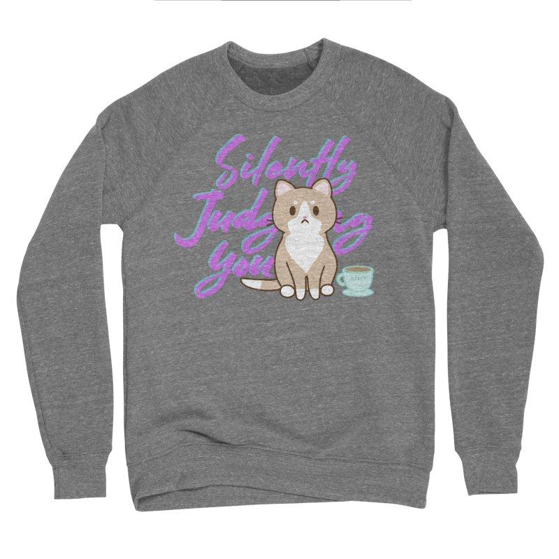Kafein is Judging you - purple Men's Sweatshirt by Redbeanfiend's Artist Shop