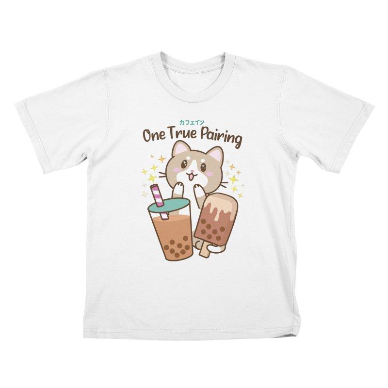 Kafein - Boba Tea OTP Kids T-Shirt by Redbeanfiend's Artist Shop