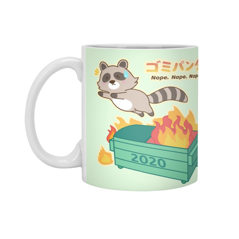 Gomi Raccoon - Dumpster Fire 2020 Accessories Mug by Redbeanfiend's Artist Shop