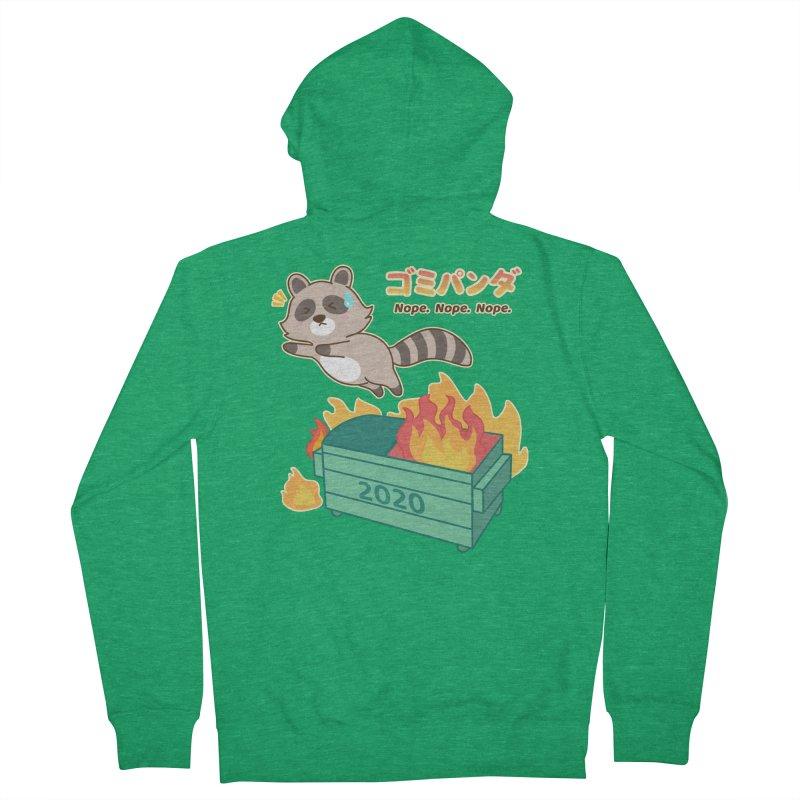 Gomi Raccoon - Dumpster Fire 2020 Women's Zip-Up Hoody by Redbeanfiend's Artist Shop