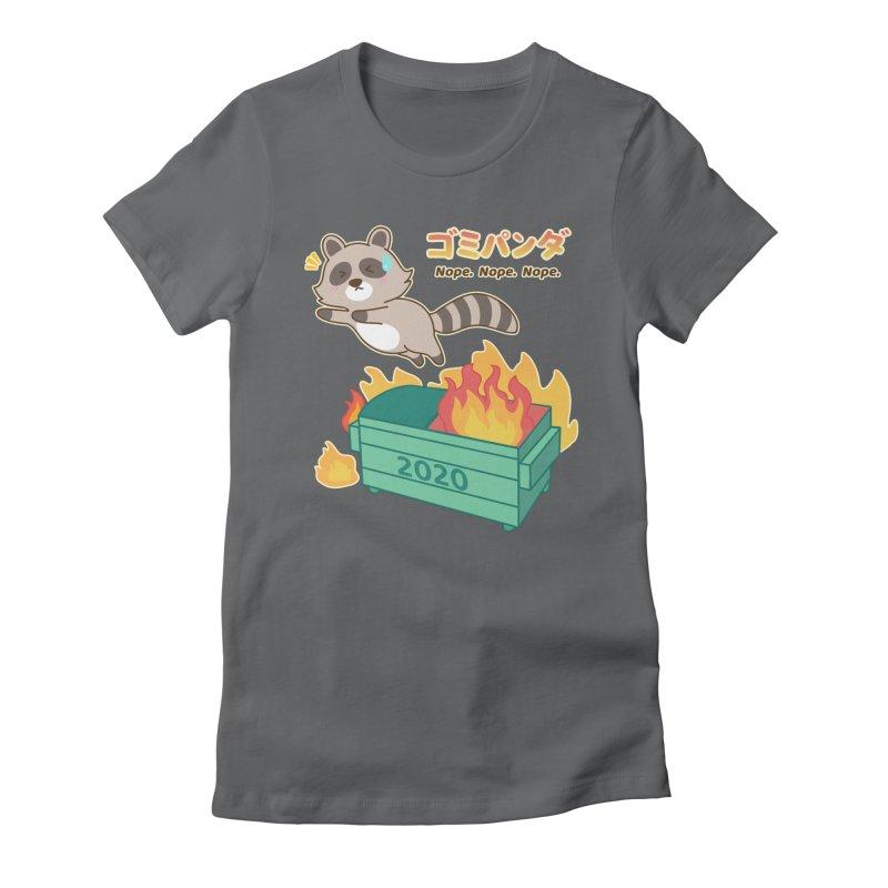 Gomi Raccoon - Dumpster Fire 2020 Women's T-Shirt by Redbeanfiend's Artist Shop