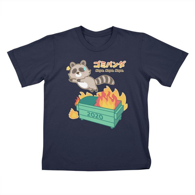 Gomi Raccoon - Dumpster Fire 2020 Kids T-Shirt by Redbeanfiend's Artist Shop