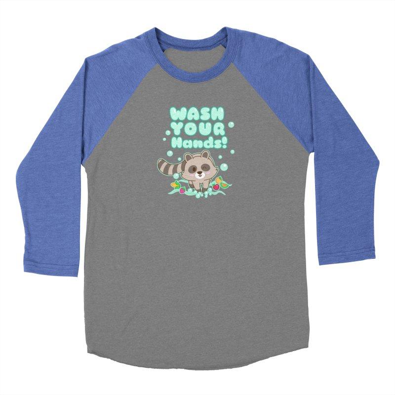 Gomi Raccoon - Wash Your Hands Women's Longsleeve T-Shirt by Redbeanfiend's Artist Shop