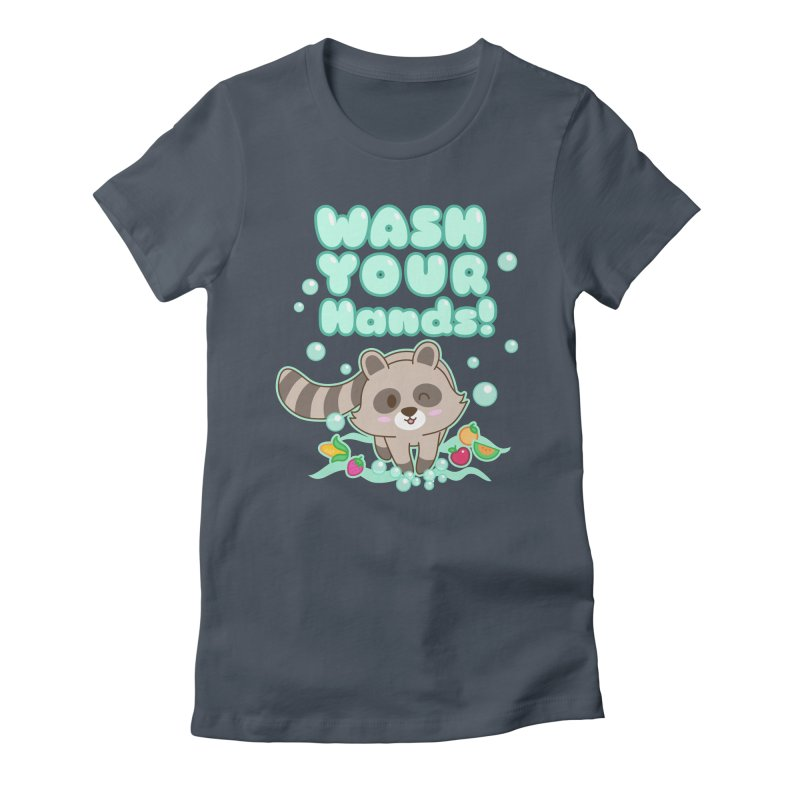 Gomi Raccoon - Wash Your Hands Women's T-Shirt by Redbeanfiend's Artist Shop