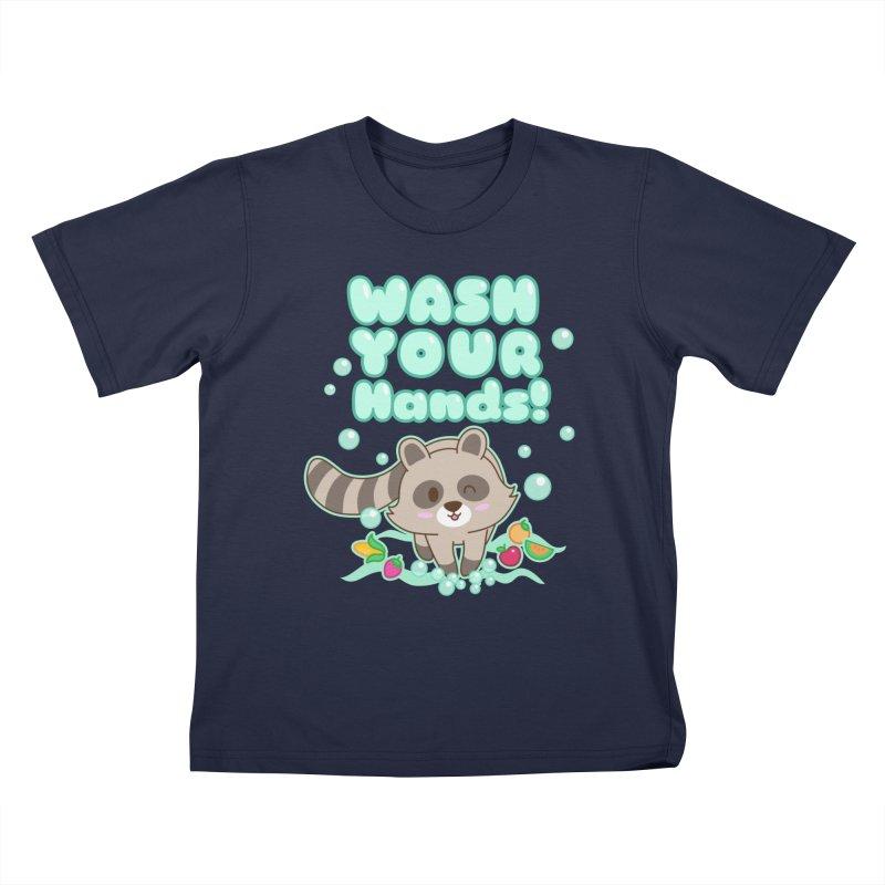 Gomi Raccoon - Wash Your Hands Kids T-Shirt by Redbeanfiend's Artist Shop