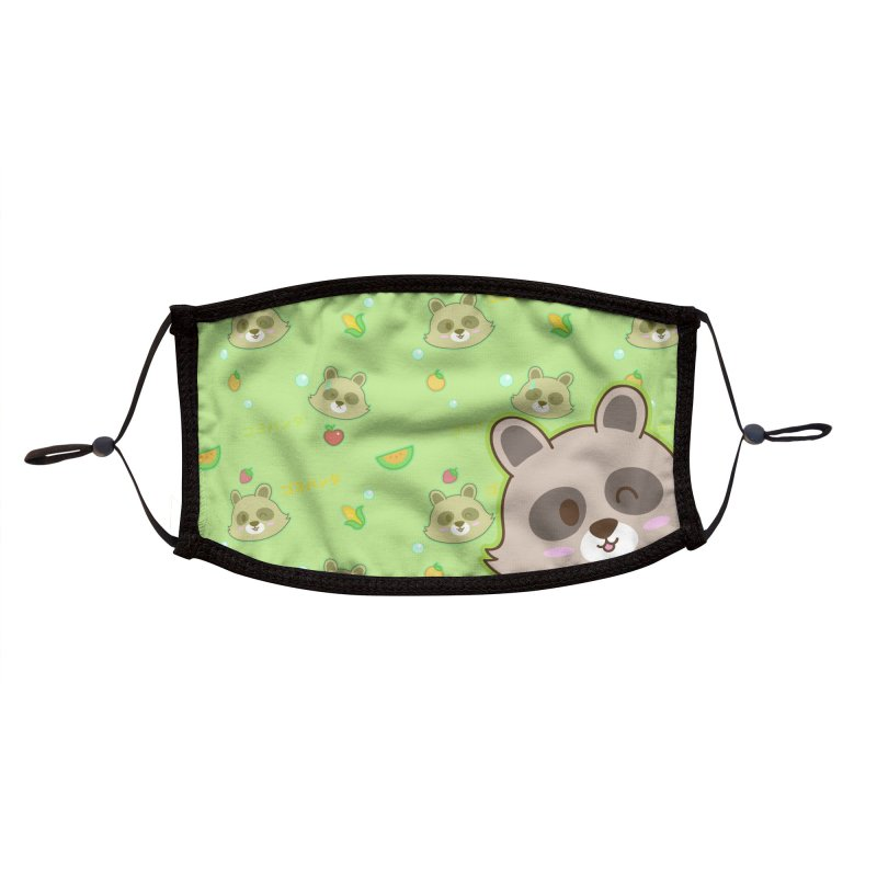 Gomi Raccoon - Wash Your Hands (Variant) Accessories Face Mask by Redbeanfiend's Artist Shop