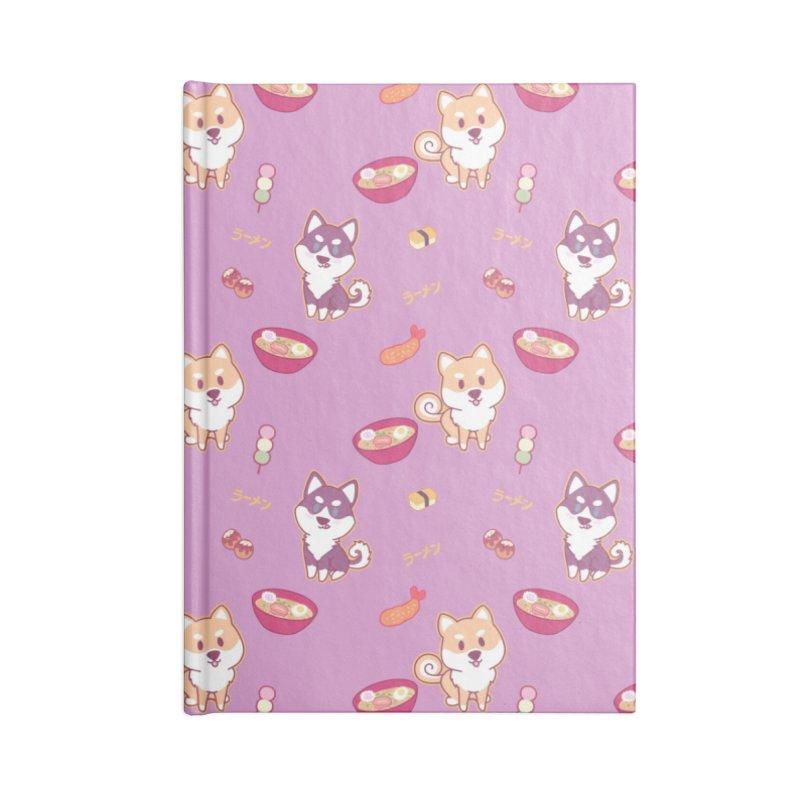 Shiba Wan Wan - Ramen Love Accessories Notebook by Redbeanfiend's Artist Shop
