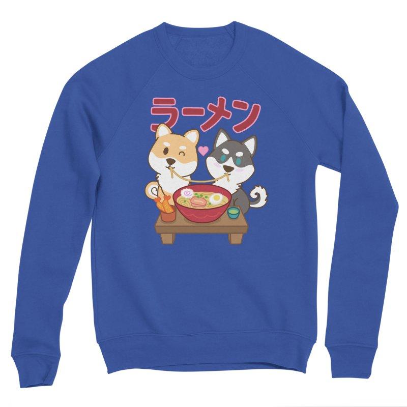 Shiba Wan Wan - Ramen Love Men's Sweatshirt by Redbeanfiend's Artist Shop