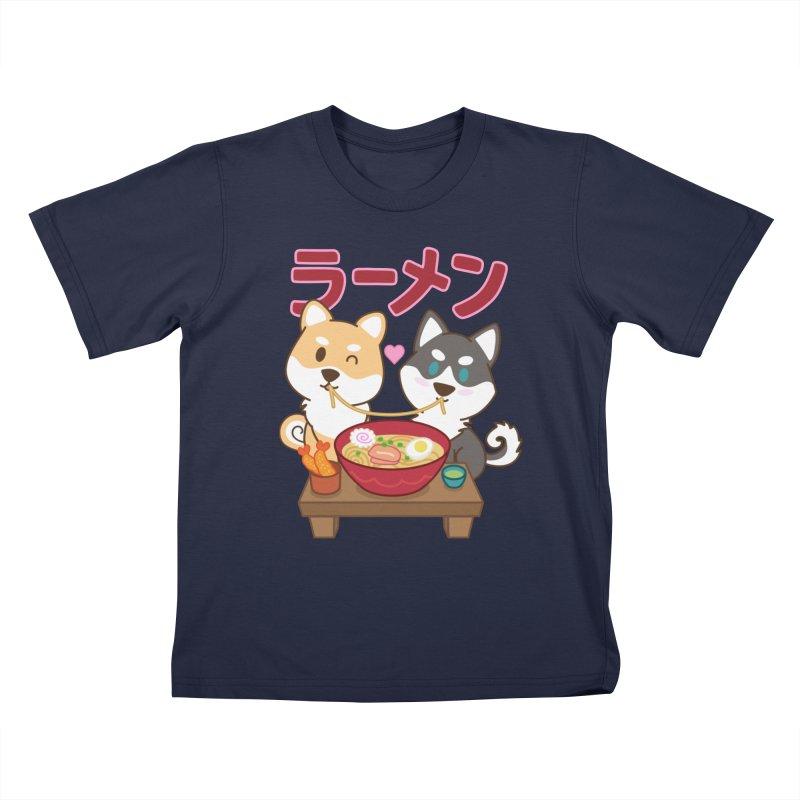 Shiba Wan Wan - Ramen Love Kids T-Shirt by Redbeanfiend's Artist Shop