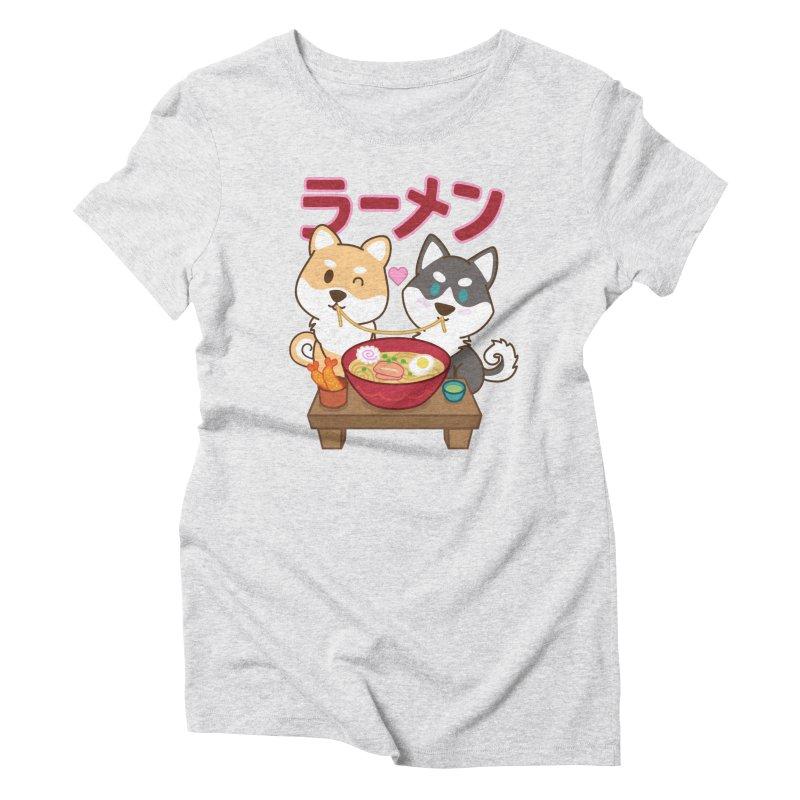 Shiba Wan Wan - Ramen Love Women's T-Shirt by Redbeanfiend's Artist Shop