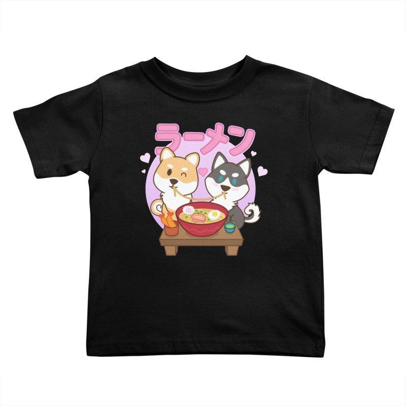 Shiba Wan Wan - Ramen Love (Variant) Kids Toddler T-Shirt by Redbeanfiend's Artist Shop