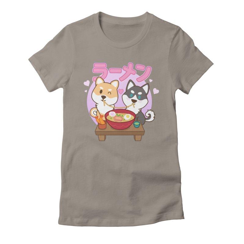 Shiba Wan Wan - Ramen Love (Variant) Women's T-Shirt by Redbeanfiend's Artist Shop