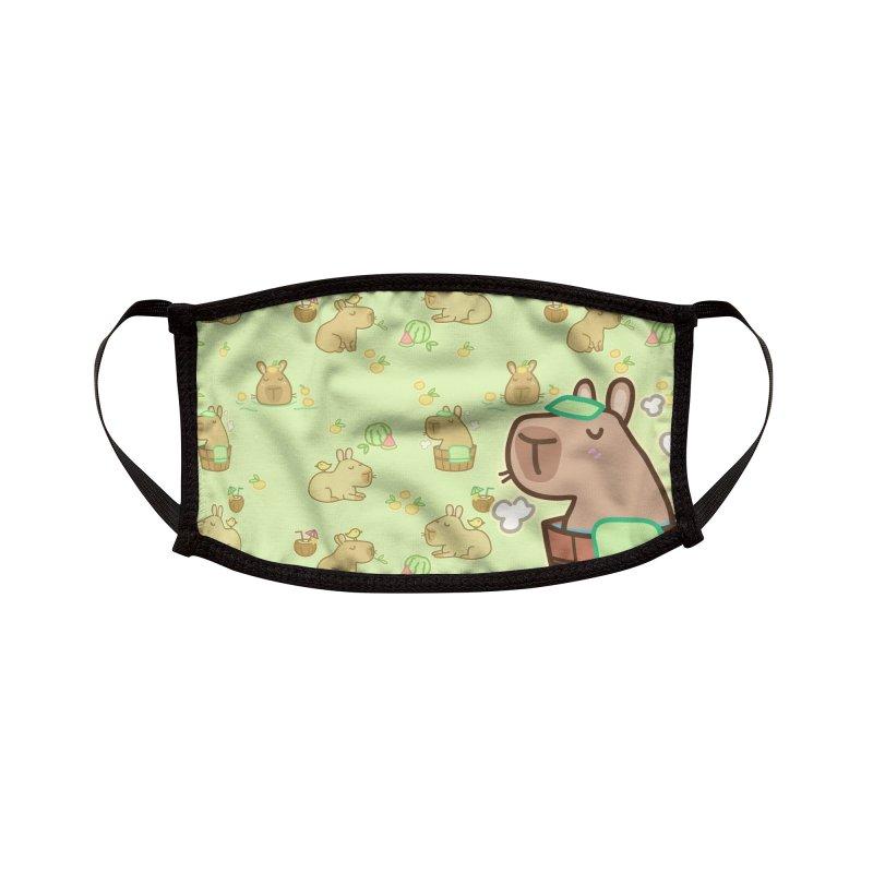 Keep Calm and Capybara Accessories Face Mask by Redbeanfiend's Artist Shop