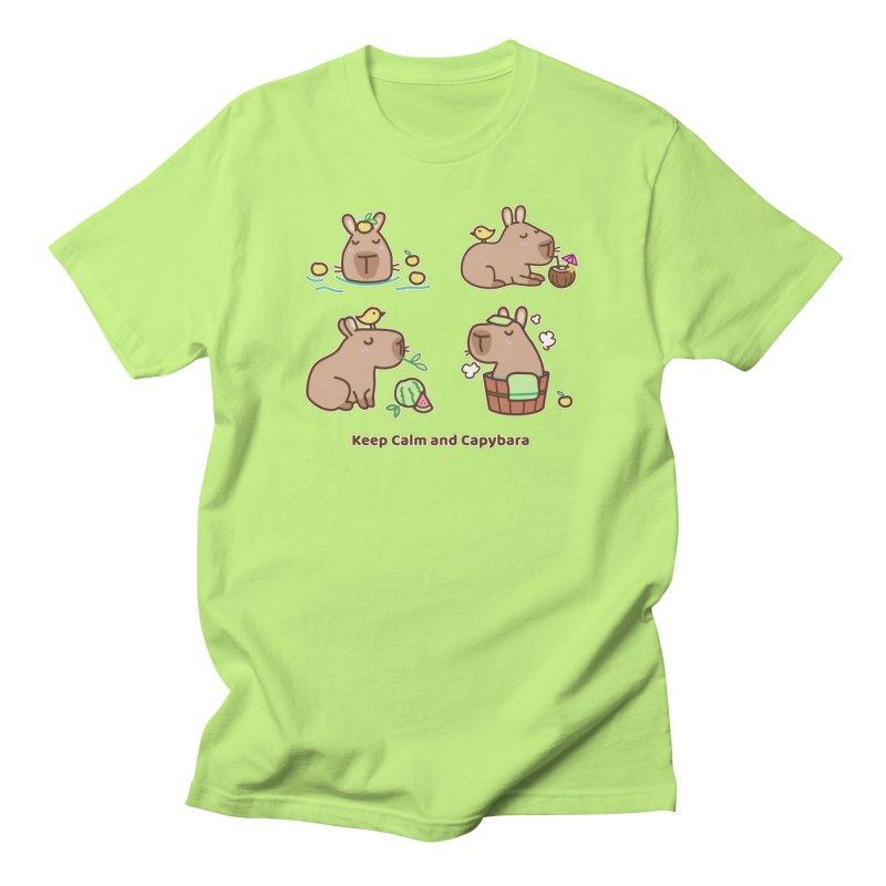 Keep Calm and Capybara Men's T-Shirt by Redbeanfiend's Artist Shop