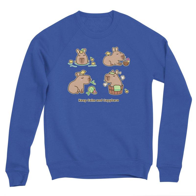 Keep Calm and Capybara Women's Sweatshirt by Redbeanfiend's Artist Shop