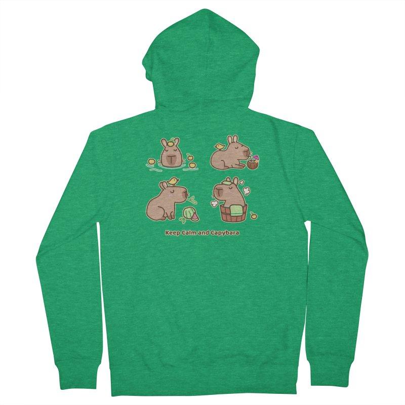 Keep Calm and Capybara Women's Zip-Up Hoody by Redbeanfiend's Artist Shop