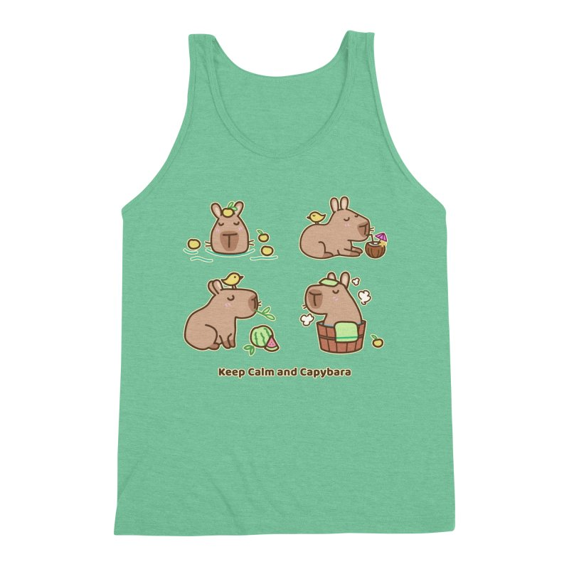 Keep Calm and Capybara Men's Tank by Redbeanfiend's Artist Shop