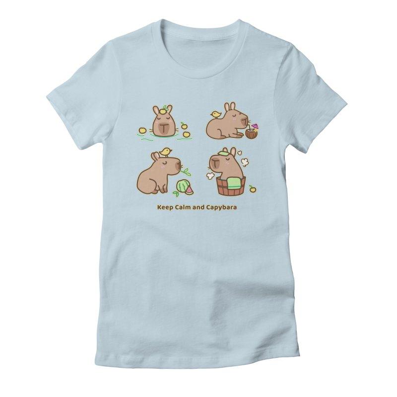 Keep Calm and Capybara Women's T-Shirt by Redbeanfiend's Artist Shop
