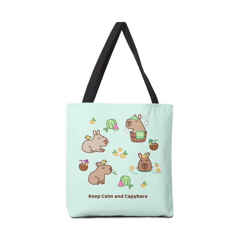 Keep Calm and Capybara Accessories Bag by Redbeanfiend's Artist Shop