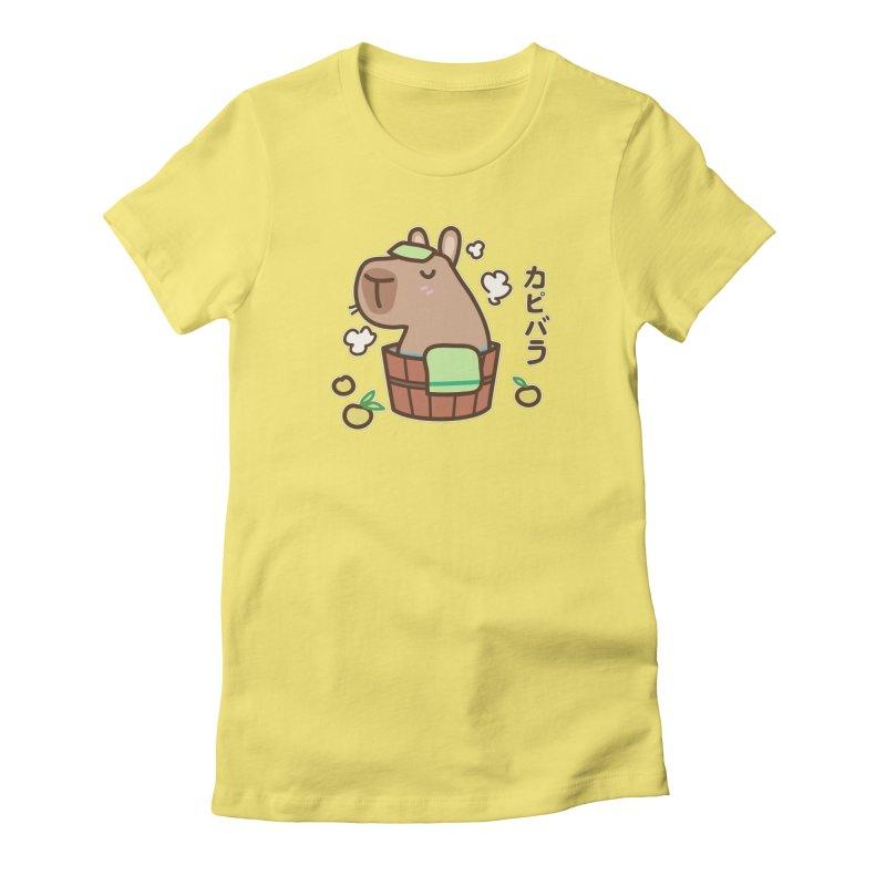 Keep Calm and Capybara (Variant) Women's T-Shirt by Redbeanfiend's Artist Shop