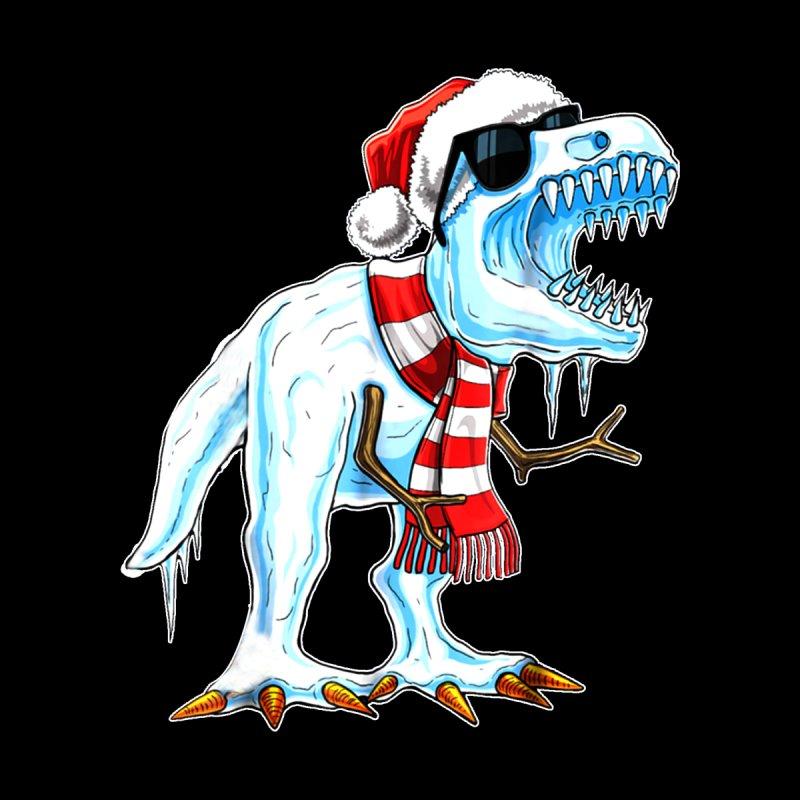 Christmas Dinosaur.Christmas T Rex Dinosaur Snowman Dinosaur