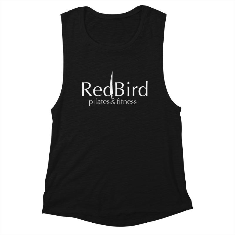 Women's Muscle Tank in Women's Muscle Tank Black Slub by RedBird Pilates